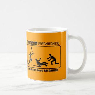 Zombie Preparedness Axes Reload Design Basic White Mug