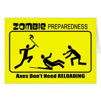 Zombie Preparedness Axes Reload Design Card