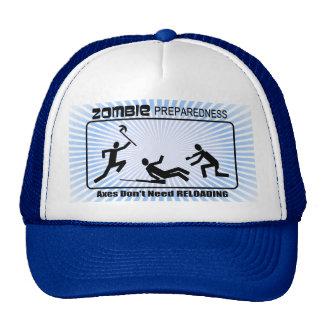 Zombie Preparedness Axes Reload Design Mesh Hats