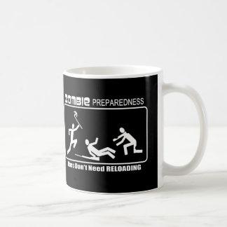 Zombie Preparedness Axes Reloading WHITE Design Mug