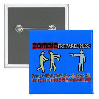 Zombie Preparedness Head Shot Design Pinback Button