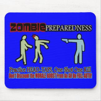 Zombie Preparedness Head Shot Design Mousepads