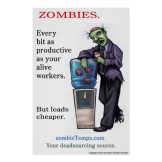 Zombie productivity poster