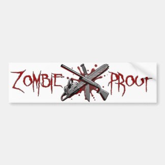 Zombie-Proof (White) Bumper Sticker