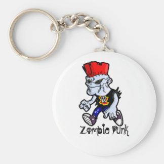 Zombie Punk Keychain