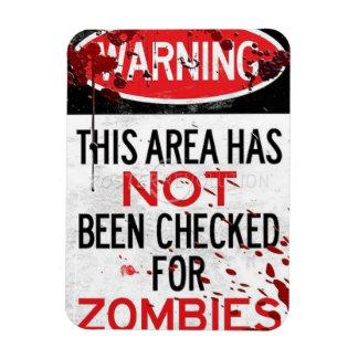 zombie rectangular photo magnet