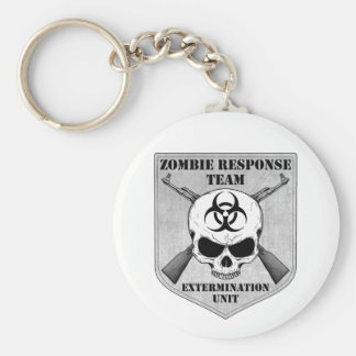 Zombie Response Team Basic Round Button Key Ring