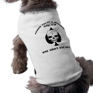 Zombie Response Team Mascot Shirt Sleeveless Dog Shirt