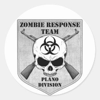 Zombie Response Team: Plano Division Classic Round Sticker
