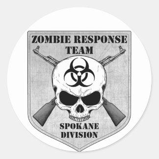Zombie Response Team: Spokane Division Classic Round Sticker