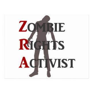 Zombie Rights Activist Postcard