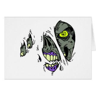 Zombie Rip Through Design Greeting Card