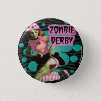 Zombie Roller Derby Girl 3 Cm Round Badge