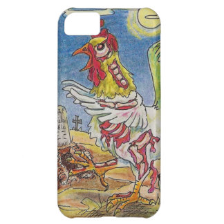 Zombie Rooster Chicken Halloween Art iPhone 5C Case