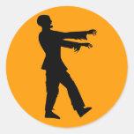 Zombie Round Sticker