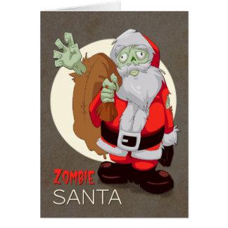 Zombie Santa Brings Presents for Christmas Greeting Card
