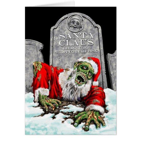 Zombie Santa Christmas Card (Blank Interior)