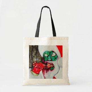 Zombie Santa Christmas shopping bag