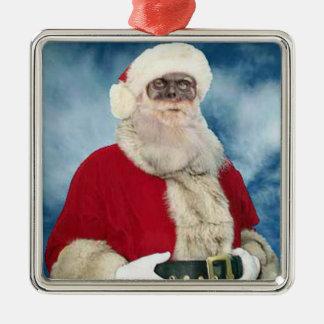 Zombie Santa Portrait ornament