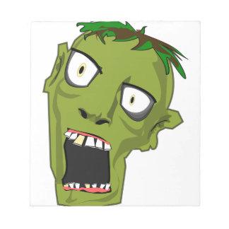 Zombie Scary Dead Halloween Face Cartoon Notepad