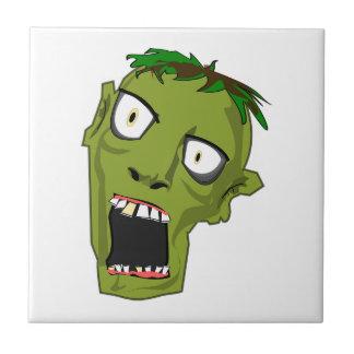 Zombie Scary Dead Halloween Face Cartoon Tile