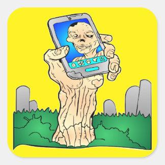 Zombie Selfie Pic Square Sticker