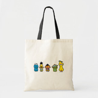 Zombie Sesame Street Characters Budget Tote Bag