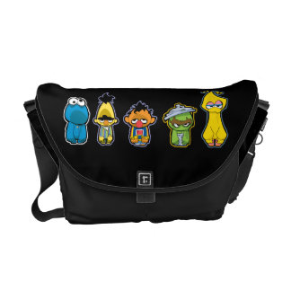 Zombie Sesame Street Characters Commuter Bags