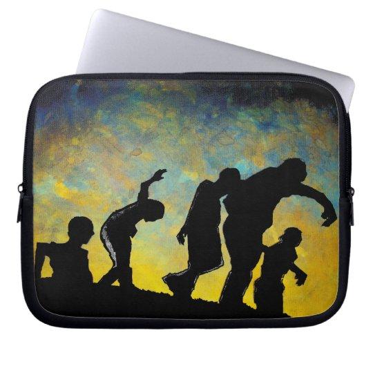 Zombie Silhouette horror art laptop notebook case