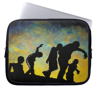 Zombie Silhouette horror art laptop notebook case Computer Sleeve