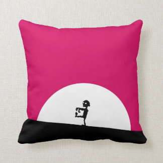 Zombie Silhouette with Full Moon Cushion
