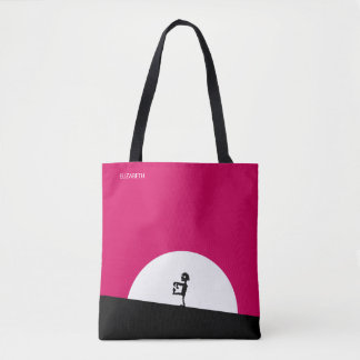 Zombie Silhouette with Full Moon Personalized Tote Bag
