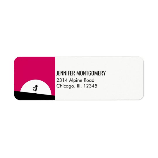 Zombie Silhouette with Full Moon Return Address Label
