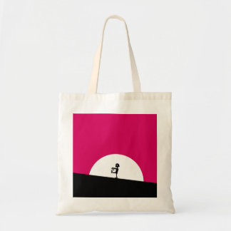 Zombie Silhouette with Full Moon Tote Bag