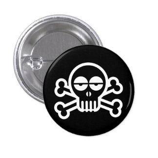 Zombie Skull 3 Cm Round Badge
