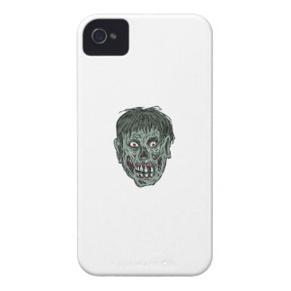 Zombie Skull Head Drawing iPhone 4 Case