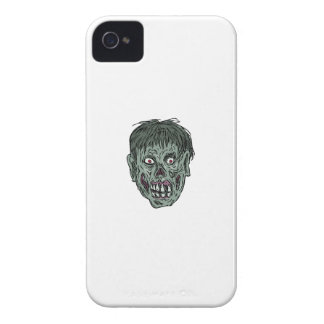 Zombie Skull Head Drawing iPhone 4 Cases