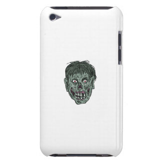 Zombie Skull Head Drawing iPod Case-Mate Case