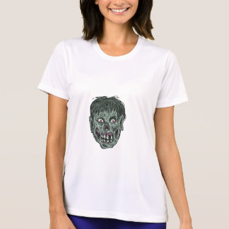 Zombie Skull Head Drawing T-Shirt