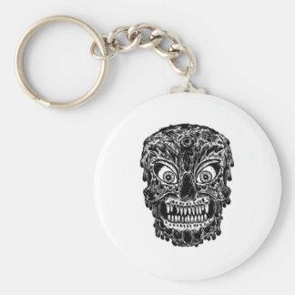 zombie skull key chain