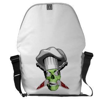 Zombie Skull v19 Courier Bags