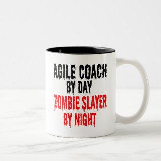 Zombie Slayer Agile Coach Two-Tone Coffee Mug