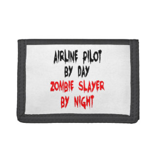 Zombie Slayer Airline Pilot Tri-fold Wallet
