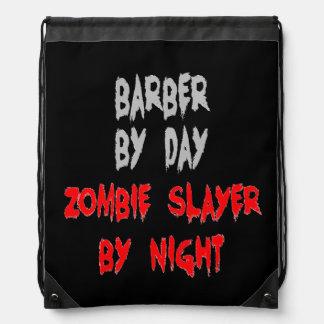 Zombie Slayer Barber Drawstring Bag