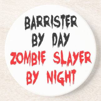 Zombie Slayer Barrister Coaster