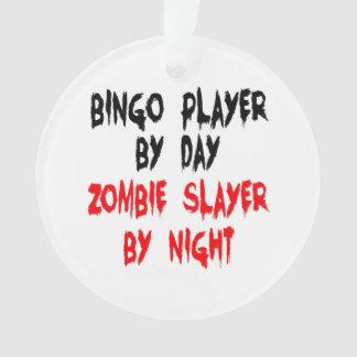 Zombie Slayer Bingo Player Ornament