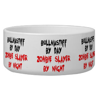 Zombie Slayer Bullmastiff Dog Breed Bowl