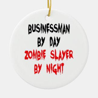 Zombie Slayer Businessman Ceramic Ornament