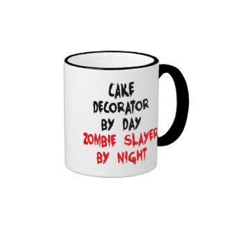 Zombie Slayer Cake Decorator Ringer Mug