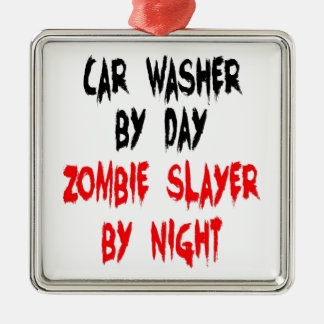 Zombie Slayer Car Washer Metal Ornament